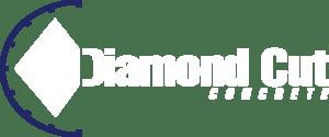 Diamond cut concrete logo