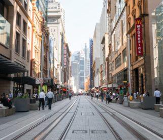 George Street - pedestrian friendly