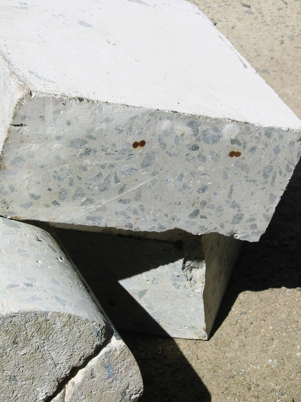 concrete chunks in a pile